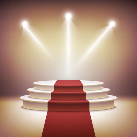 Illuminated stage podium vector  Vector