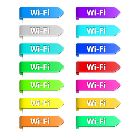 4g: icon flat mobile 4G LTE Wifi 3G GPRS  Illustration