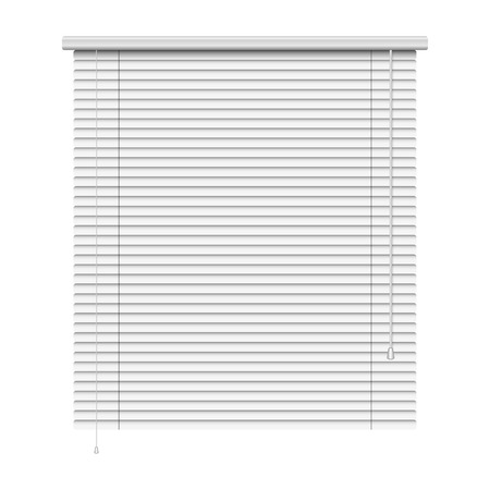 concealed: realistic home related blinds isolated on white  Illustration