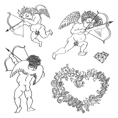 fig leaf: heart valentines day