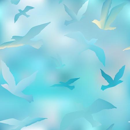oiseau mouche: vol�e d'oiseaux