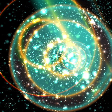 apocalyptic: Abstract apocalyptic background cosmos space vector web Illustration