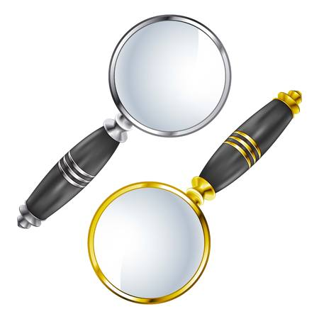 a round of inspection: Magnifying lens Search vectpr
