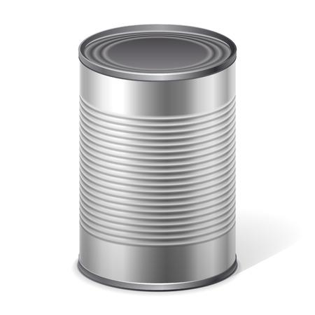 canned food: food metallic vector Illustration
