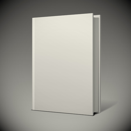 books isolated: Blank book cover