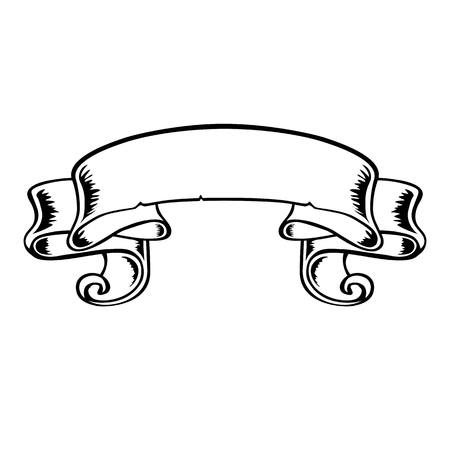 a snake in a bag: banner vector black-and-white ribbon decor decoration