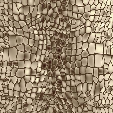 Leather animal snake textures reptile crocodile pattern background Vector
