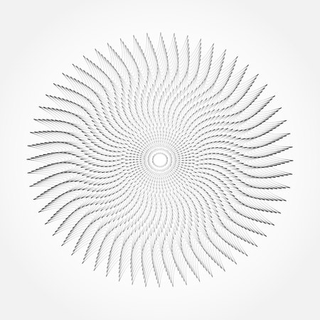 Abstract whirl lines textured background  Vector Vector