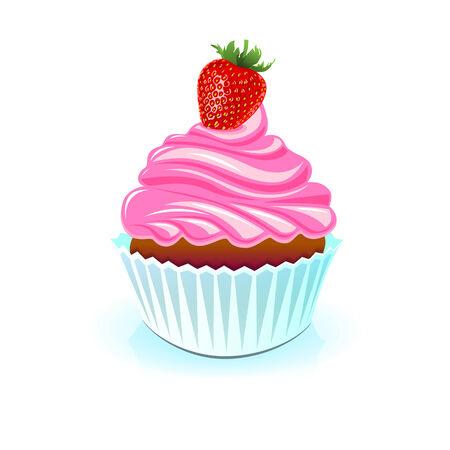 pastel feliz cumplea�os: Torta del feliz cumplea�os, cumplea�os dulce Vectores