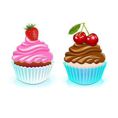 pastel feliz cumplea�os: Torta del feliz cumplea�os, vector cumplea�os dulce Vectores