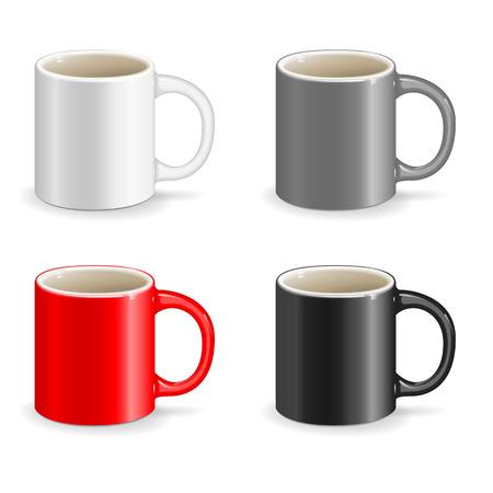 ceramic: taza vector bebida objeto de cer�mica Vectores