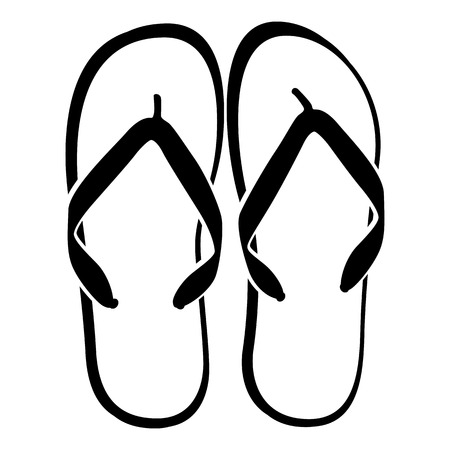 Beach Sandals Drawing Beach Sandals Vector