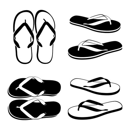 flip flops on the beach: Beach Sandals