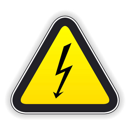 symbol vigilance: Attention sign  Vector illustration  Illustration