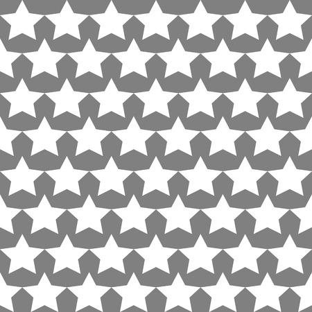 Seamless Star Monochrome Background Vector