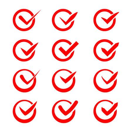 multiple choice: Set of nine different ticks  Illustration