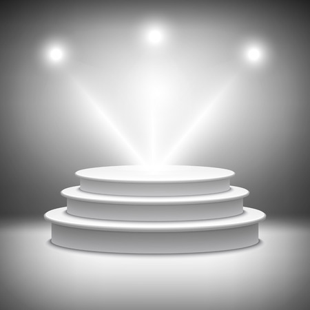 照らされたステージ表彰台のベクトル  イラスト・ベクター素材