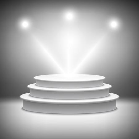 illuminated: Illuminated stage podium vector