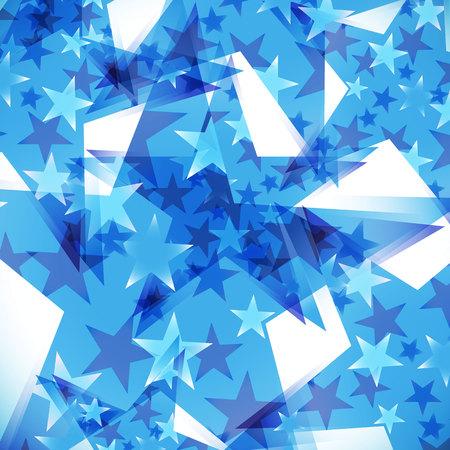 meteor shower: background decorated stars Illustration
