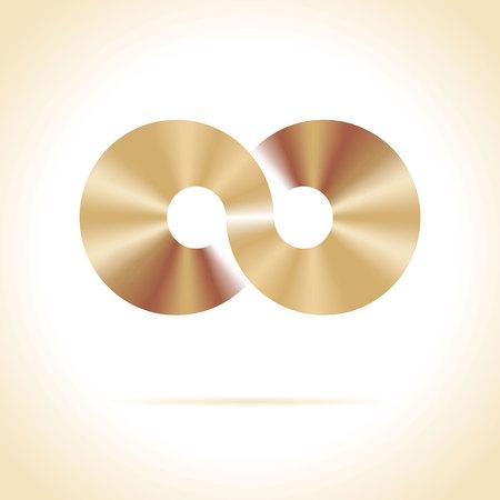 abstract vector illustration design template  Disco symbol Vector