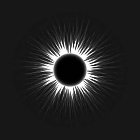 annular: Annular eclipse as the moon passes the sun vector dark