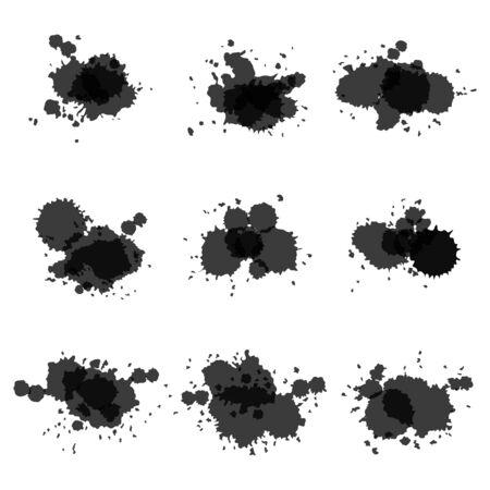 Watercolor hand painted circles set art vector spot Vector