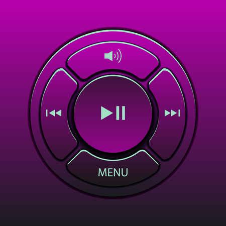 interface design: Vector interface design elements music player icons