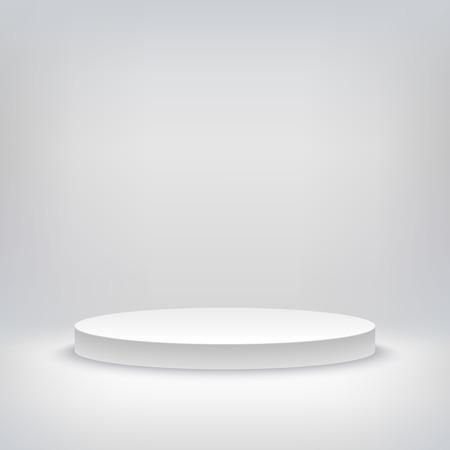 白い空のミュージカル、演劇、コンサート、エンターテイメント ステージの空白のテンプレート レイアウトの 3 d イラストレーション。