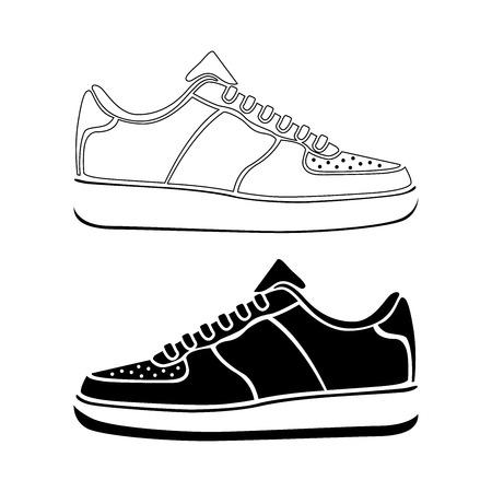 Hardloopschoen pictogram TENNISSCHOENEN vector sport actief pictogram symbool