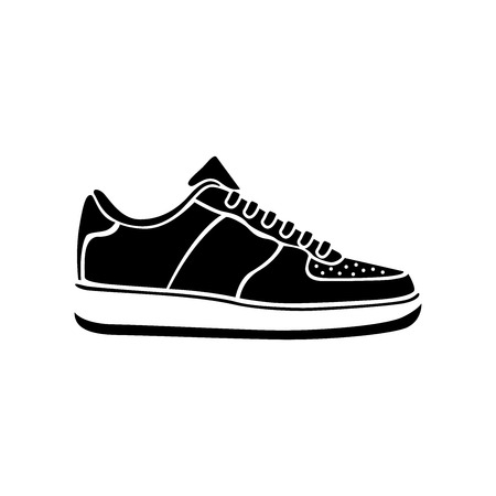 Running shoe icon SNEAKERS vector sport active icon symbol