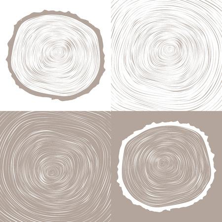 Anelli degli alberi di sfondo e ha visto tagliare tronco grafica concettuale Archivio Fotografico - 33059077