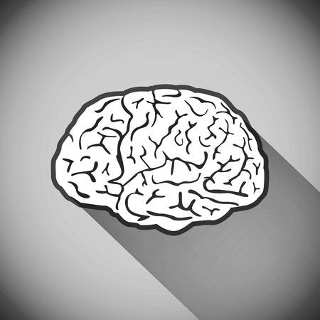 simbolo medicina: vector cerebro s�mbolo humano medicina ilustraci�n pensar, icono, la mente