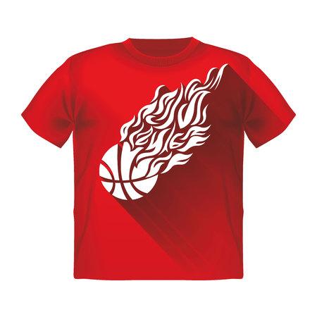 men body: t-shirt with print background sport men body style