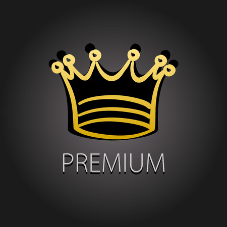 premium quality: Premium quality golden label with crown