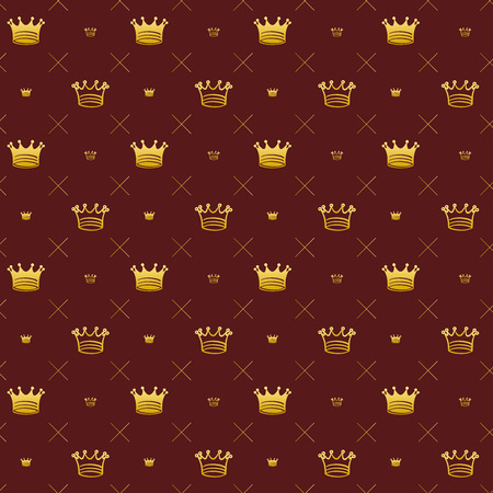 Simple seamless pattern with crown symbol art decoration