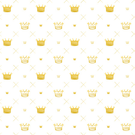 Simple seamless pattern with crown symbol art decoration Vector