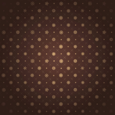 brown background texture: Christmas seamless pattern from multicolored snowflakes on background art