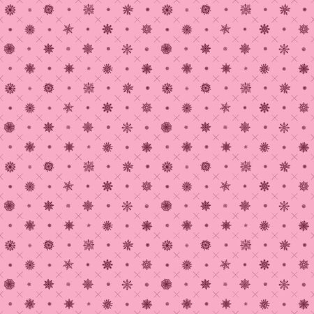 Seamless pattern with christmas elements. Vector pink Seamless pattern with snowflakes Vector