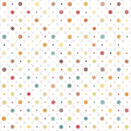 Seamless vector pattern: Christmas garland on a white background art Vector