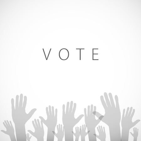 illustration of hand with voting sign of art vector