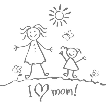 certitude: Kids Drawing. The Mother