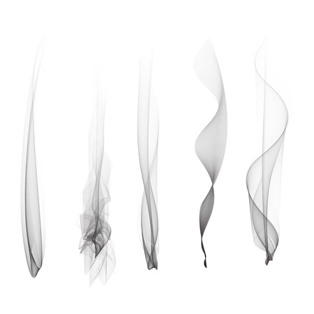 smoke effect: Vector set of smoke effect smooth flame background isolated wallpaper