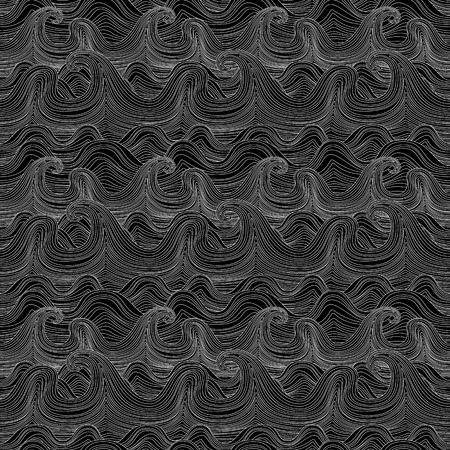 river vector: Seamless wavy pattern. Vector illustration pattern wave river vector ocean wallpaper ornament