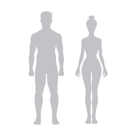 男と女のアイコン ベクトル図スポーツ ボディアート