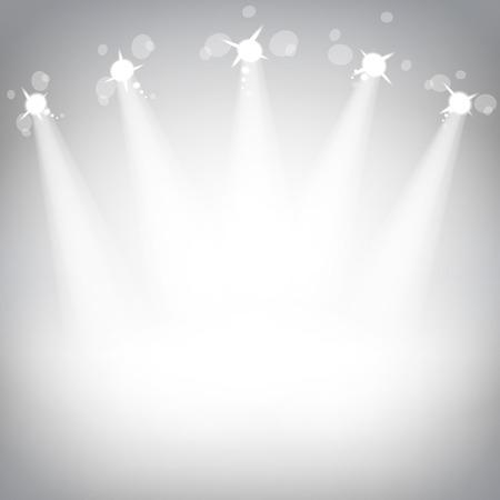 Studio with a podium and spotlights vector grey show light art