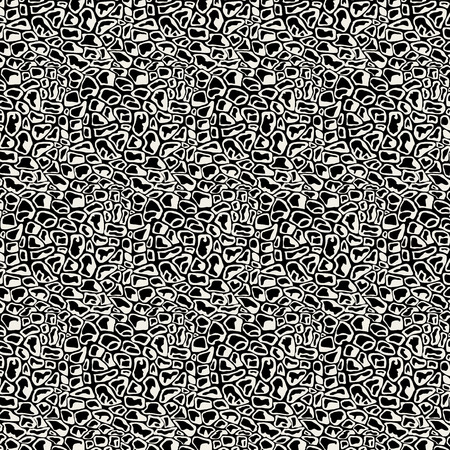 human skin texture: Vector Illustration pattern black and white animal background art Illustration