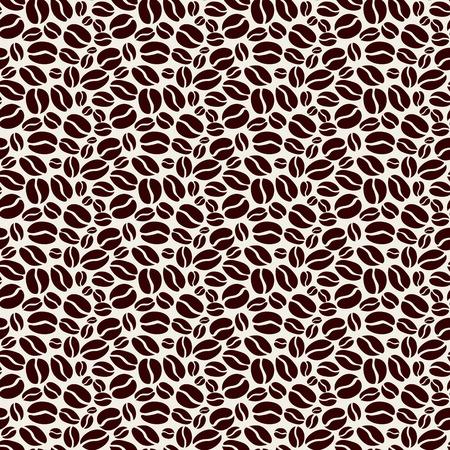 Stock Vector Illustratie patroon close-up gebraden graan behang mokka, decoratie cafe Stock Illustratie