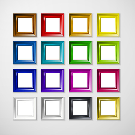 3D picture frame design for A4 image or text Vector