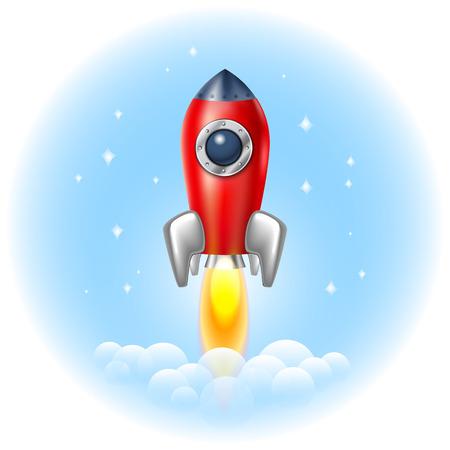 Rocket icon  space vector spaceship technology illustration ship fire symbol flame cartoon art