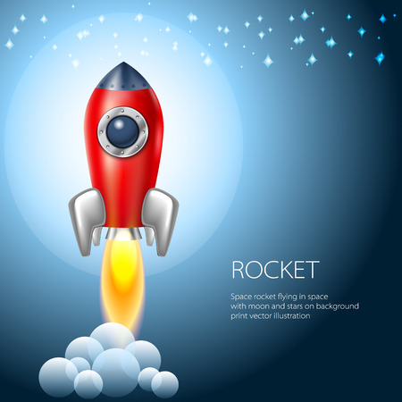 Rocket icon  space vector spaceship technology illustration ship fire symbol flame cartoon art Vector